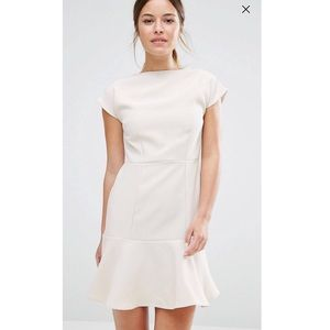 Cream peplum dress